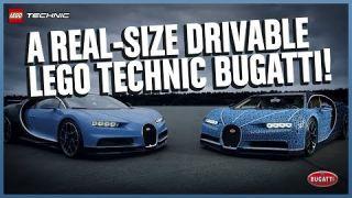 The Amazing Life-size LEGO Technic Bugatti Chiron that DRIVES!