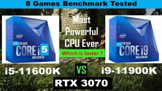 Intel i5 11600k vs i9 11900k Gaming Benhcmarks